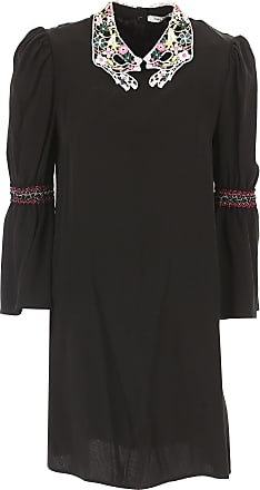 Dress for Women, Evening Cocktail Party On Sale, Black, polyester, 2017, 10 12 8 Vivetta