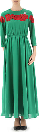 Dress for Women, Evening Cocktail Party On Sale, Green, polyestere, 2017, 10 6 8 Vivetta