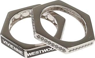 Vivienne Westwood Ring for Men, Black, Rhodium, 2017, Small Medium Large X-Large