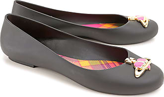 Ballet Flats Ballerina Shoes for Women On Sale, Black, suede, 2017, USA 7 - EUR 38 Vivienne Westwood