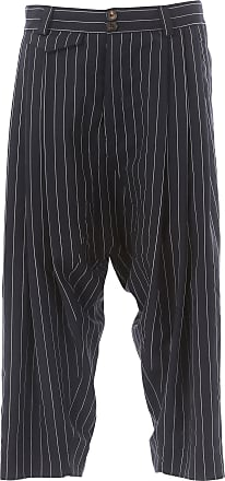 Pants for Men On Sale, Anglomania, Blue, Cotton, 2017, S Vivienne Westwood