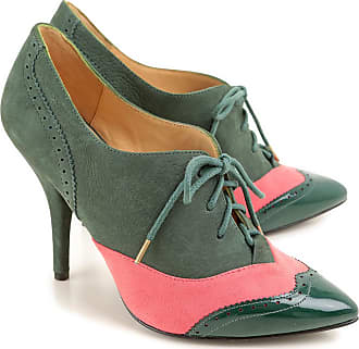 Womens Shoes On Sale, Anglomania, Dark Green, suede, 2017, 6.5 Vivienne Westwood
