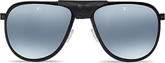 Vuarnet Polarisierende Sonnenbrille GLACIER XL Stahl Acetat schwarz French-Flag ykSItLM4w1