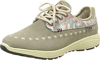 KAWASAKI - Zapatillas Para Mujer Con Cordones, Ribete Gris, Talla 37, Color Verde