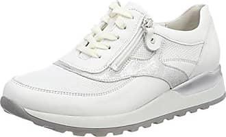 Waldläufer Hiroko, Chaussures à Lacets Femme, Multicolore (Weiss Silber 663), 37 EU