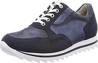 Hirokas, Zapatos de Cordones Oxford para Mujer, Grau (Vel. Glitter Panc. Vel.g Peltro), 38 EU Waldläufer