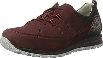 Waldläufer Henni Zapatos Planos con Cordones Mujer, Mehrfarbig (Memphis Shine Taipei Schwarz Anthhrazit Sw), 38 EU (5 UK)