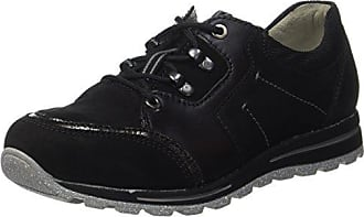 Waldläufer Hadel, Zapatos de Cordones Oxford para Mujer, Negro (Denver Denver Torrix Schwarz Schwarz Grün 642), 43 EU