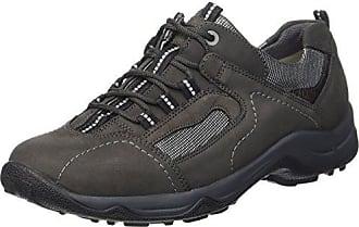 Hadel, Zapatos de Cordones Oxford para Mujer, Negro (Denver Denver Torrix Schwarz Schwarz Grün 642), 38 EU Waldläufer