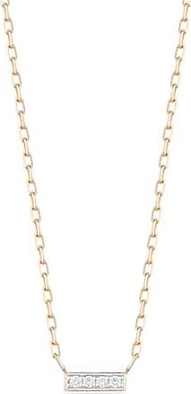 Walters Faith Grant 18K Rose Gold And White Diamond Mini Bar Necklace ELWPrPhtW