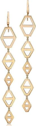 Walters Faith Keynes 18K Rose Gold Five Drop Signature Hexagon Earring Sterling silver ilcL2cc0