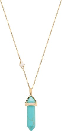 Wanderlust + Co x REVOLVE Celeste Opal Necklace in Metallic Gold agnerKOtn