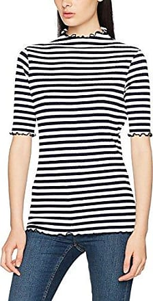 Warehouse Stripe Saturday, Camiseta para Mujer, Blanco (White 00), 40