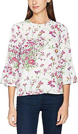 Warehouse Full Bloom Top, Maglia a Maniche Lunghe para Mujer, Multicoloured (Cream & Blue), 34