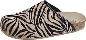 Weeger Unisex-Erwachsene 48013 Pantoffeln, Beige (Zebra Zebra), 48 EU