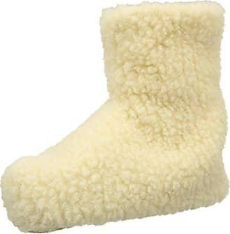Woolsies Aconca Natural Wool Slipper Booties - Zapatillas con Forro Cálido para Hombre, Marrone (Latte Brown), Talla 36