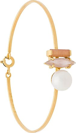 Wouters & Hendrix Technofossils sunstone, cats eye and pearl bracelet - Metallic
