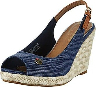 KAY Sandal Stripes, Sandalias para Mujer, Azul (Navy/Off White 455), 39 EU Wrangler
