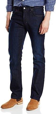 W12175001/Texas - Jean Straight Leg - Homme - Brut (Blue Black) fr:W35/L32 (Taille fabricant : W35/L32)Wrangler LRQZ3WMh