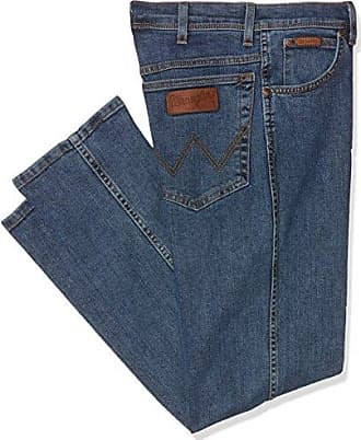 Mens Texas Stretch Straight Jeans, Blue (Darkstone 009), W33/L36 Wrangler