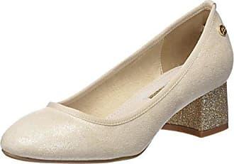 030478, Zapatos de Tacón con Punta Cerrada para Mujer, Dorado (Bronze Bronze), 38 EU Xti