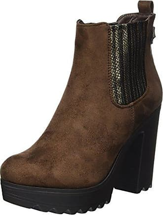 QIN&X Fond épais femmes Talon Long chaud. Chaussures,Black,34