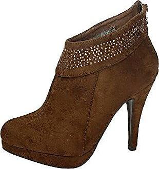 XTI Damen Booties, Braun - Zimtfarben - Größe: 37