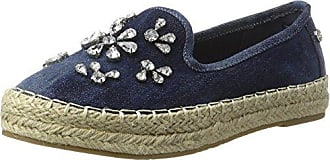 XTI Damen Navy Metallic Ladies Shoes Espadrilles, Blau (Navy), 38 EU