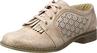 XTI 47799, Zapatos de Cordones Oxford para Mujer, Plateado (Platinium), 40 EU