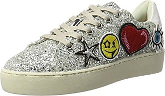 XTI Glitter Combined Ladies Shoes, Sneaker Donna, Argento (Silver Silver), 36 EU