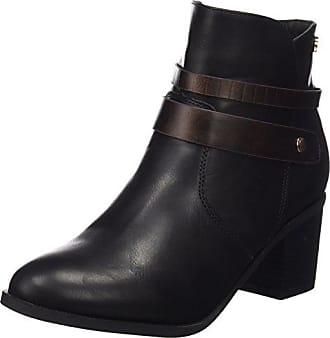 Xti 46066 Black, Schuhe, Stiefel & Stiefeletten, Stiefeletten, Grau, Schwarz, Female, 36