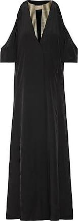 Zeus + Dione Woman Lyre Cold-shoulder Silk Crepe De Chine Maxi Dress Black Size 38 Zeus + Dione Pvu61