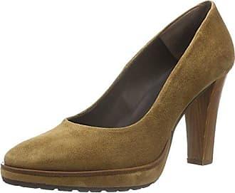 26, Zapatos de Tacón con Punta Cerrada para Mujer, Marrón (Kamel), 40 EU Zinda