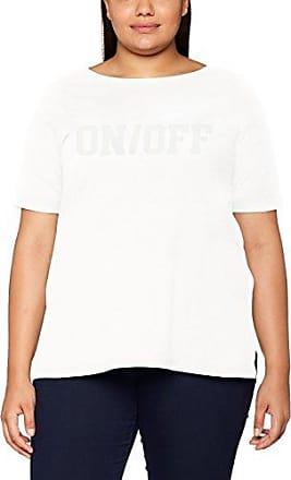 Zizzi T-Shirt, SS, Camiseta para Mujer, Grau (Grey Melange 1849), 44 (Talla del Fabricante: Small)