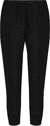 Outlet Real Enjoy Online Zoe Karssen Woman Metallic Fil Coupé Jersey Track Pants Black Size S Zoe Karssen 100% Guaranteed Sale Online jwJe8Z