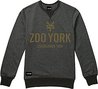 Box, Sudadera con Capucha para Hombre, Grey (Dark Heather Dkh), X-Large Zoo York