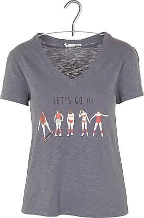 Besticktes Rundhals-T-Shirt aus Baumwolle ACOTÉ PUgqyl4