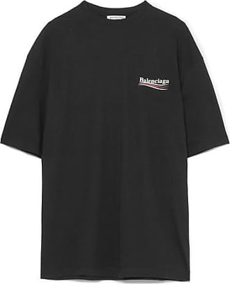 T-shirt Aus Baumwoll-jersey Mit Print - Schwarz Balenciaga E65v9