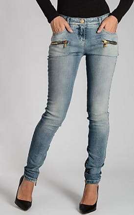 Stretch Denim Jeans 13cm Herbst/Winter Balmain AqCy0S