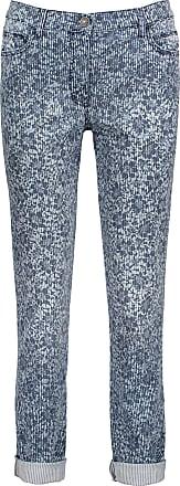 Hose%2c für Frauen%2c Blau / Weiß%2c Print%2c Schrittlänge: 75 cm%2c Eingrifftaschen Stil%2c mit Eingrifftaschen Betty Barclay 9DKBV