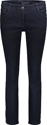 Perfect Body-Jeans%2c Dunkelblau%2c Schrittlänge: 80 cm%2c Unifarben Stil%2c für Frauen%2c Reißverschluss Betty Barclay 74uqRt