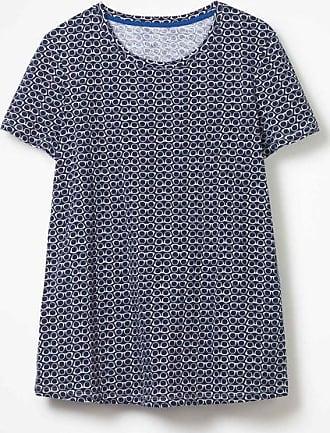 Gemustertes T-Shirt mit Rundhalsausschnitt Grey Damen Boden Boden wXYQjuu
