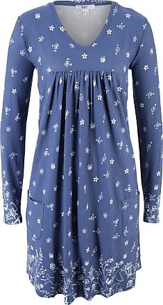 Kleid mit besticktem Mesh langarm in weiß von bonprix Bonprix BWtV41eWR