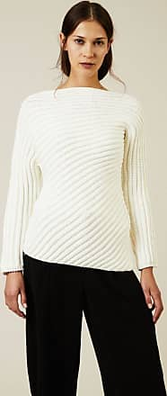 Rippstrick-Woll-Pullover Weiß Chloé UO76Nad