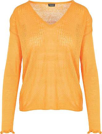 Pullover mit geschnürtem V-Ausschnitt aus Fantasie-Strick Grace & Mila gIa7lUXK