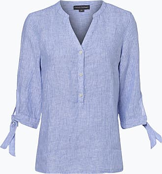 Damen Bluse aus Leinen blau Franco Callegari 30Udtu