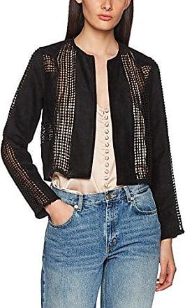 Rocky - Kurze Jacke aus Lederimitat mit Kunstpelzfutter und Reißverschlüssen aus Metall - Schwarz Goldie London SxmHP