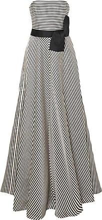 rmellose Robe Aus Gestreifter Faille - Creme Halston Heritage Viele Arten Von Günstigem Preis Um Zu Verkaufen Billigshop Billig Verkauf Verkauf Wo Zu Kaufen 4xiDJT1wG