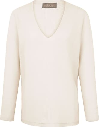 V-Pullover aus 100% Kaschmir include beige include