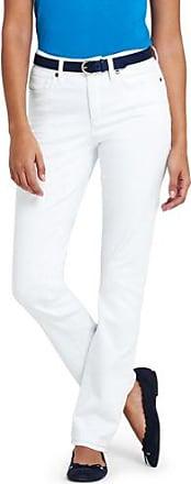 Knöchellange Twill-Jeans im Slim Fit - Orange - 34 von Lands End Lands End Bestpreis v7FK23A